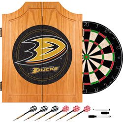 Anaheim Ducks® Dart Cabinet includes Darts and Board