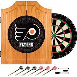 Philadelphia Flyers® Dart Cabinet includes Darts and Board